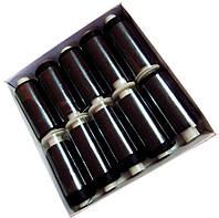 Нитки шелковые вышивальные 150D/3 (10шт/уп) Черный