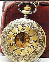 Винтажные карманные часы на цепи (4,5 см)
