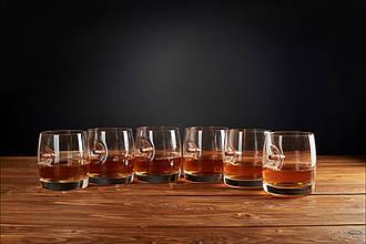 Набор стаканов для виски 6шт из богемского стекла