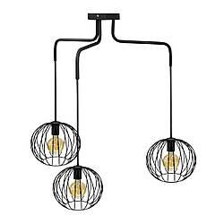 Люстра подвесная в стиле лофт на три плафона MSK Electric NL 12722-3