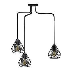 Люстра підвісна в стилі лофт на три плафона MSK Electric NL 1538-3