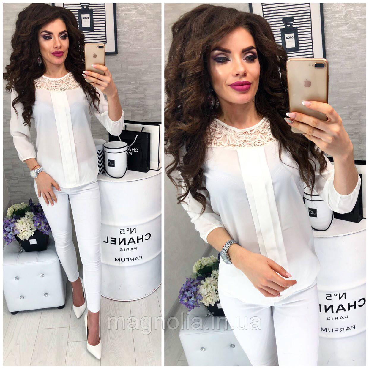 Блузка / блуза женская, модель 793 цвет белый / белая