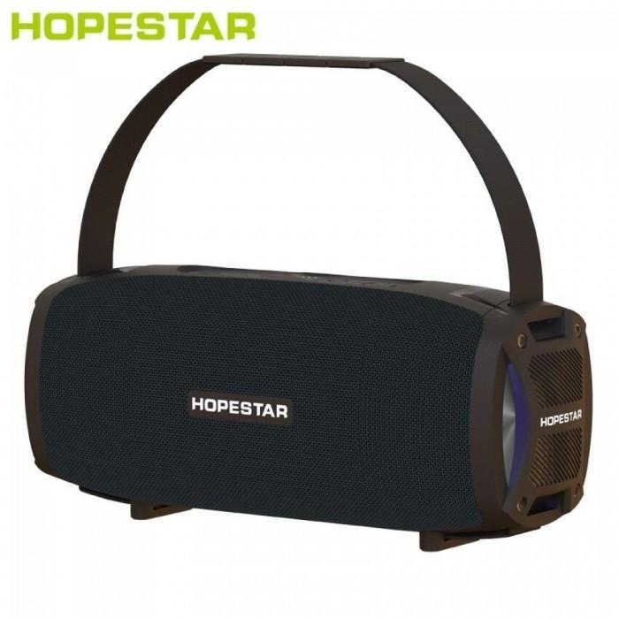 Портативна акустична стерео колонка Hopestar H24 Pro (Bluetooth, MP3, FM, AUX, Mic, LED) Чорний