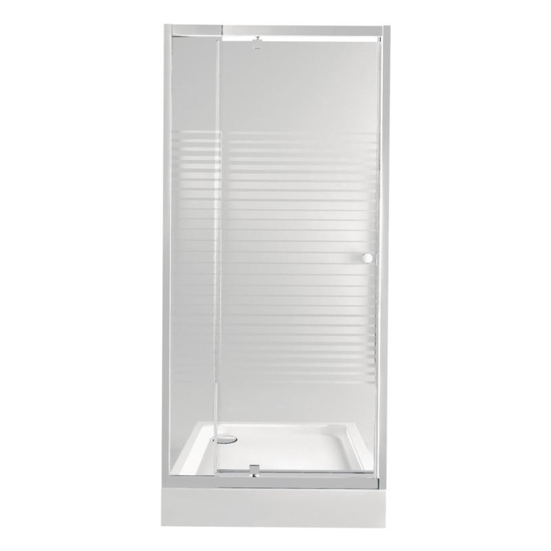 Набір Qtap двері в нішу Pisces WHI208-9.CP5 + піддон Unisquare 309915