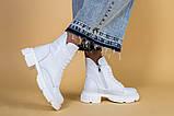 Ботинки женские кожаные белые зимние, фото 2