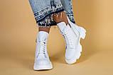 Ботинки женские кожаные белые зимние, фото 3