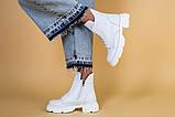 Ботинки женские кожаные белые зимние, фото 4