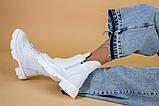 Ботинки женские кожаные белые зимние, фото 5