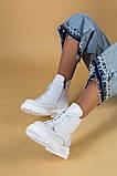 Ботинки женские кожаные белые зимние, фото 6