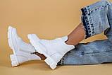 Ботинки женские кожаные белые зимние, фото 7