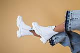Ботинки женские кожаные белые зимние, фото 8