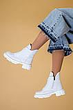 Ботинки женские кожаные белые зимние, фото 9