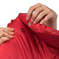 Зимний конверт в коляску на флисе с меховой опушкой, чехол для коляски Trend красный, фото 3