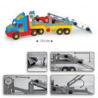 Игрушечная машинка Тягач-эвакуатор для спортивных автомобилей серии Super Truck Wader