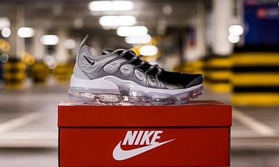 Кроссовки мужские Nike Air VaporMax Plus Silver Gradient Найк Аир ВапорМакс Серые