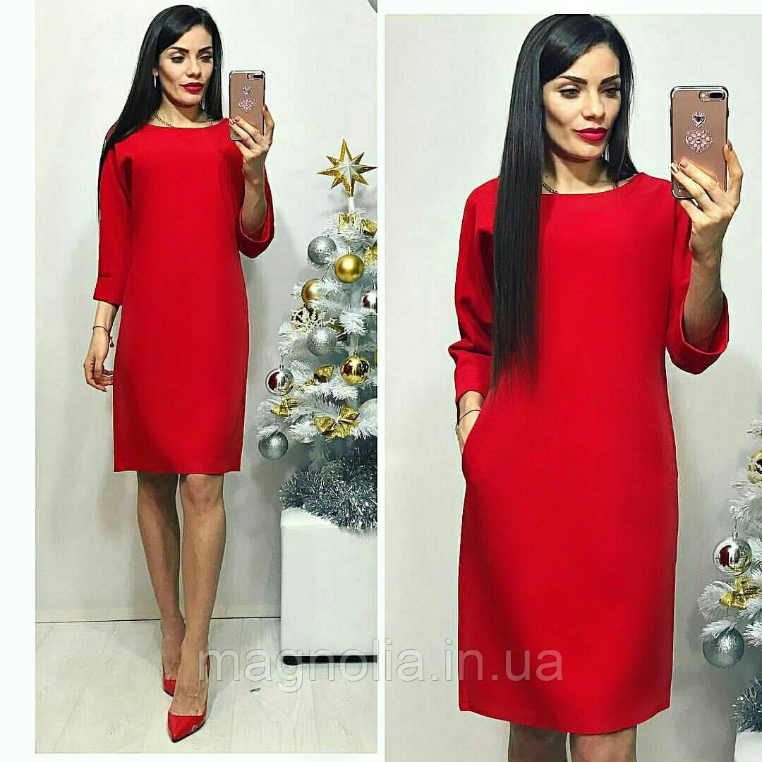 Платье женское, модель 772 , красный / красное / красного цвета