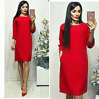 Платье женское, модель 772 , красный / красное / красного цвета, фото 1
