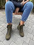 Женские ботинки кожаные зимние зеленые Vikont 7-7-32, фото 5