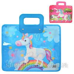 Портфель пластиковий дитячий Stenson 34,5*29,5 см ( в упаковці 2 штуки)