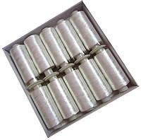 Нитки шелковые вышивальные 150D/3 (10шт/уп) Белые