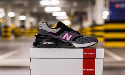 Кроссовки мужские New Balance KITHxUnited Arrows & Sons x 997S Fusion Grey Black Pink Нью Баланс 997 Серые