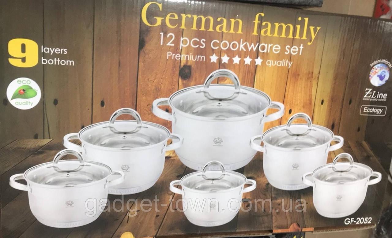 Набор кастрюль для кухни German Family (12 предметов)