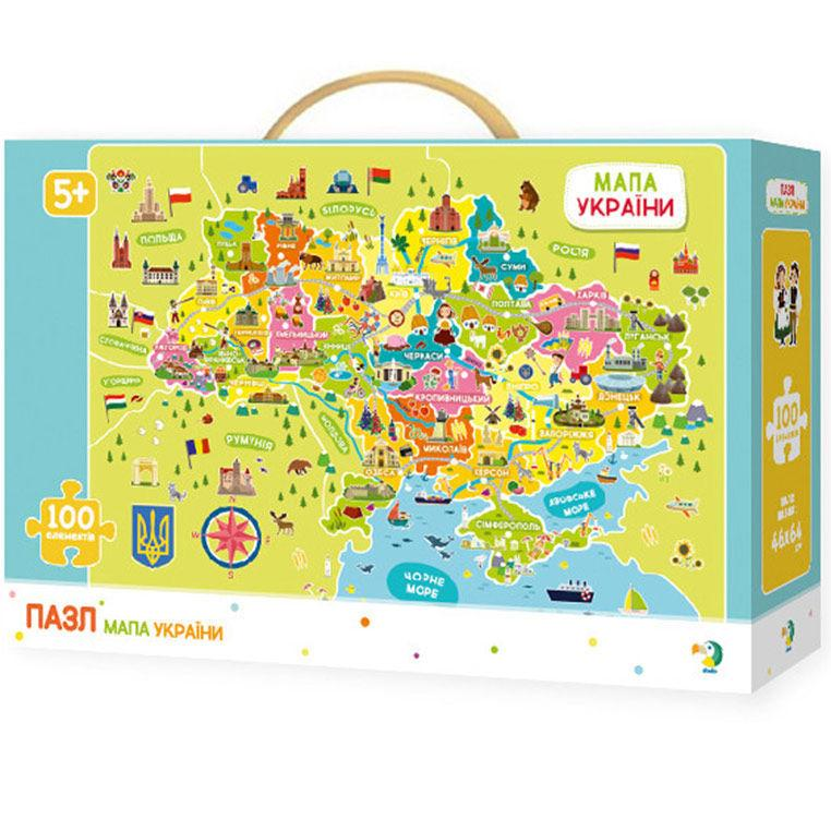 Пазлы dodo 100 элементов Карта Украины 46*64см 300109