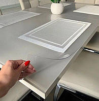 Мягкое стекло матовое 1,5 мм 80*95 см силиконовая прозрачная скатерть на стол, ПВХ Силиконовая скатерть, фото 1