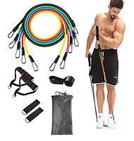 Эспандеры для фитнеса, Резинки для фитнеса, Набор эспандеров, Трубчатые эспандеры, Набор жгутов для спорта