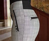 LEX №84 Брюки женские крупная клетка 44-54 серые/ серого цвета/ серый/ светло-серый, фото 1