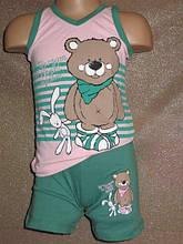 Летняя пижамка для девочки набор шортики и футболочка оптом