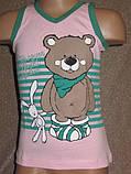 Літня піжаму для дівчинки набір шортики і футболочка оптом, фото 5