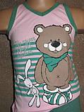 Літня піжаму для дівчинки набір шортики і футболочка оптом, фото 2