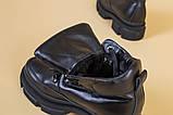 Черевики жіночі шкіряні чорні на шнурках, зима, фото 10