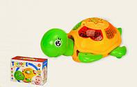 Музыкальная игрушка черепаха - ездит, звук и свет эффекты-игрушки для малышей