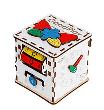 Бизиборд кубик развивающий 12х12х12 Малюк