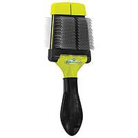 Furminator Small Soft Slicker Brush мягкая двухсторонняя щетка для малых и средних пород 691033/140566