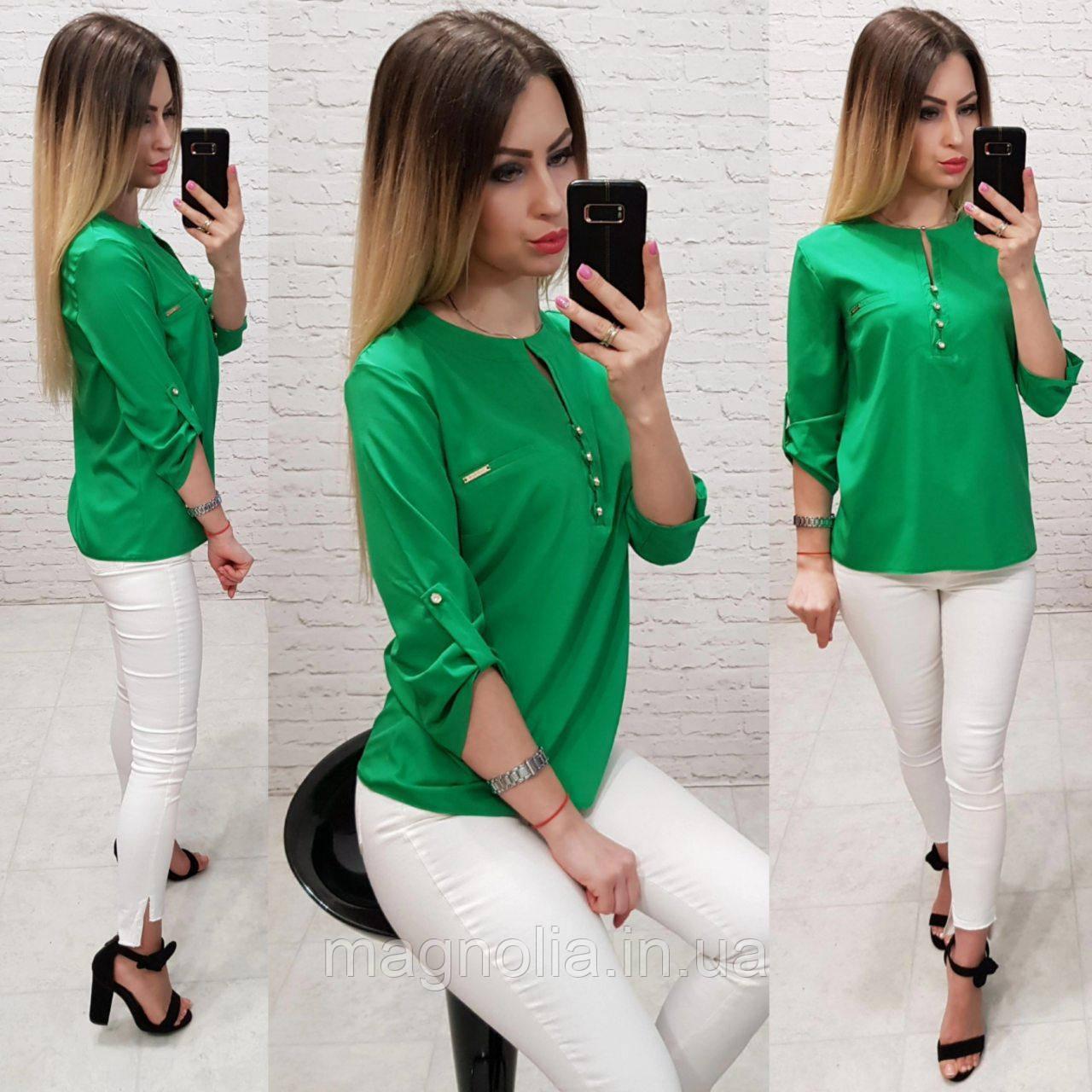 Блуза / блузка арт. 830 зелёный  / зелёная