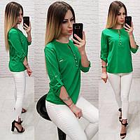 Блуза / блузка арт. 830 зелёный  / зелёная, фото 1