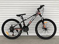 """Велосипед TopRider-611 24"""" горный, рама 14"""", оранжевый, фото 1"""