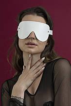 Маска на глаза Feral Feelings - Blindfold Mask, натуральная кожа, белая