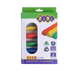 Пластилін 6 кольорів, 150 г, KIDS Line