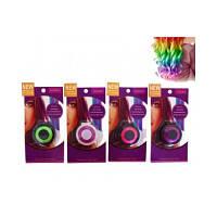 """Косметика """"Мелки для волос"""" CEL-120 4 вида, с мягкими крышечками для зажима волос"""