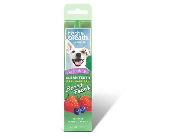 "Гель для чищення зубів TropiClean Oral Care Gel Berry Fresh ""Свіжа ягода"" для собак 59 мл"