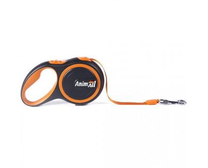 Рулетка-поводок AnimAll для собак до 15 кг / 3 м помаранчевий