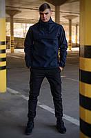 Костюм мужской синий черный демисезонный Intruder Softshell Walkman. Анорак мужской, штаны утепленные+Ключница