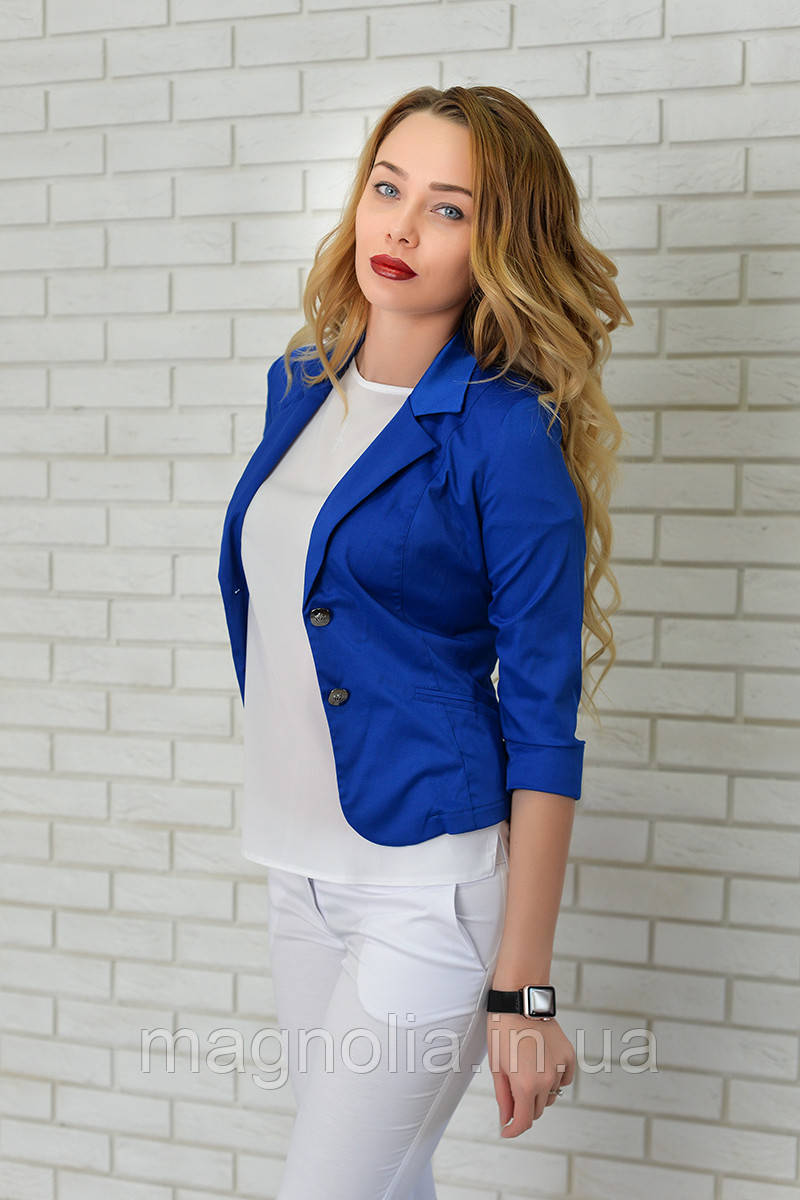 Жакет Эрика (01) ярко синий