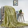 Меховой плед с помпонами зеленый Love You Помпон Зеленый 200x220 см