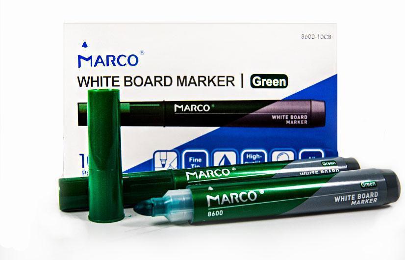 """Маркер Board сухостираємий,круглий,зелений,10шт,8600-10CB,ТМ""""Marco"""""""