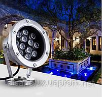 Светильник подводный для фонтана K-3301 LED 12W RGB 12V размер 160мм*195мм IP68, фото 2
